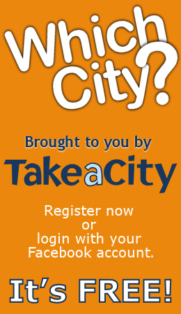 Which City - Brought to you by TakeaCity. Register now or login with your Facebook account. It's FREE!